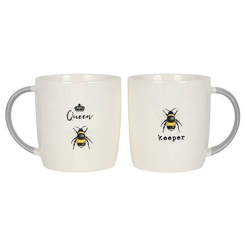 Queen Bee and Bee Keeper Mug Set