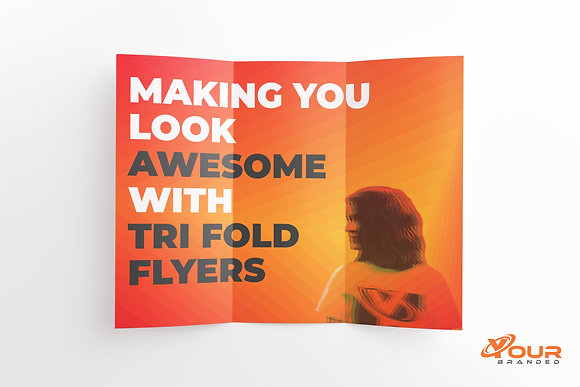 x500 Trifold Flyers A4 folded to DL