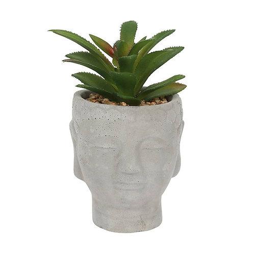 16cm Buddha Head Planter