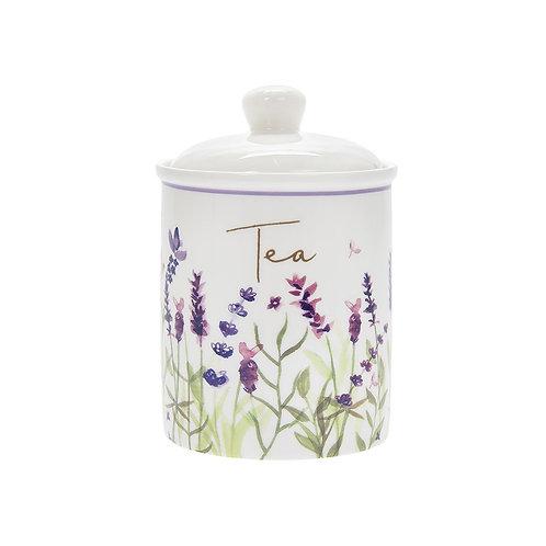 Purple Lavender Ceramic Tea Canister