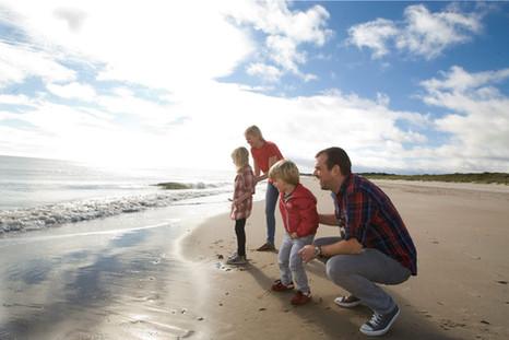 Family enjoys Curracloe