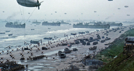 The Beach as it appeared in Saving Private Ryan