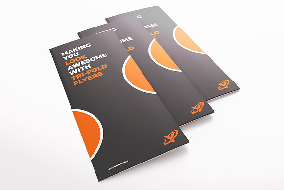 x1000 Trifold Flyers A4 folded to DL