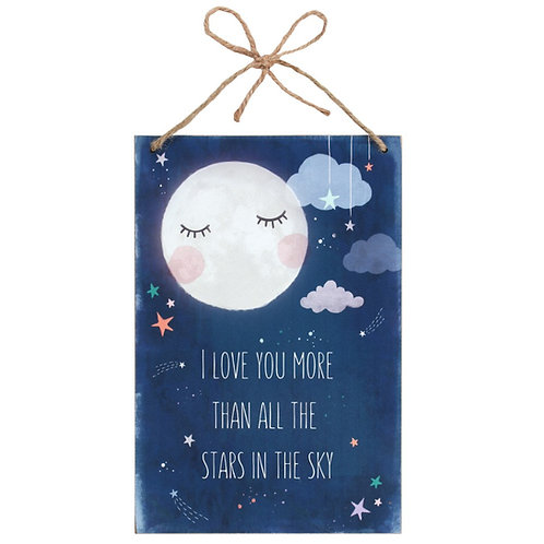 'I Love You More' Hanging Wall Plaque