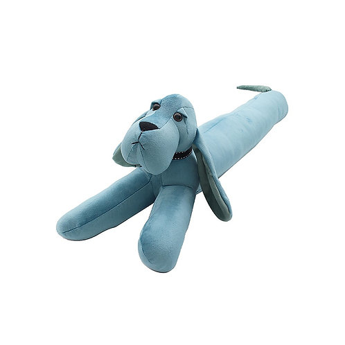 Velveteen Blue Dachshund Draught Excluder