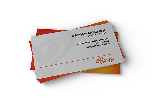 x 250 Business Cards - 55mmx85mm