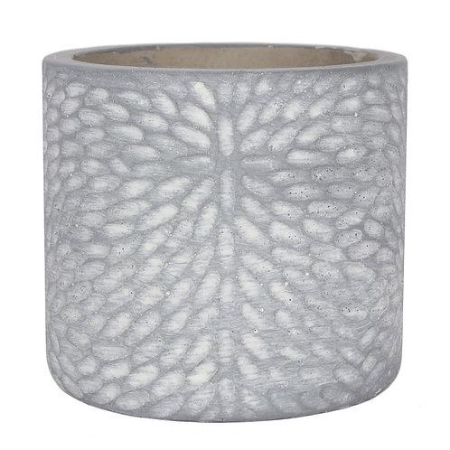 Grey Textured Plant Pot