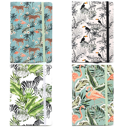 Cool A5 Notebook - Lined Paper - Vintage Tropical