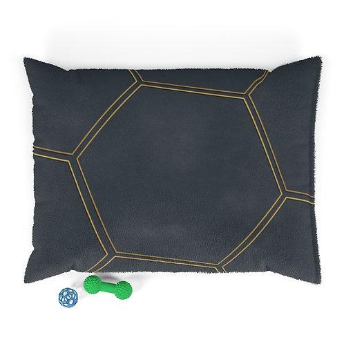 Juna Navy & Gold Polygon Microfiber Duvet Cover Pet Bed