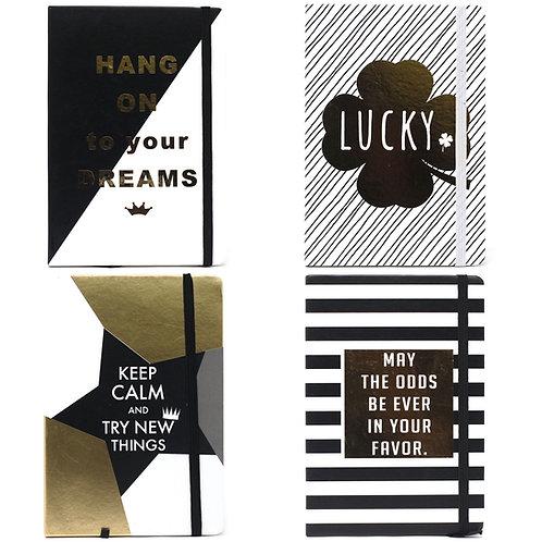 Cool A5 Notebook - Lined Paper - Golden Wisdom