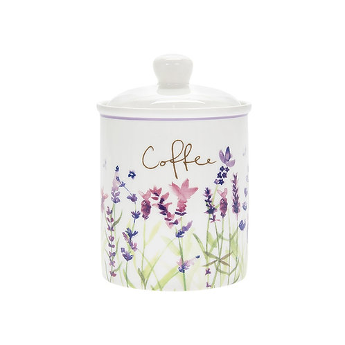 Purple Lavender Ceramic Coffee Canister
