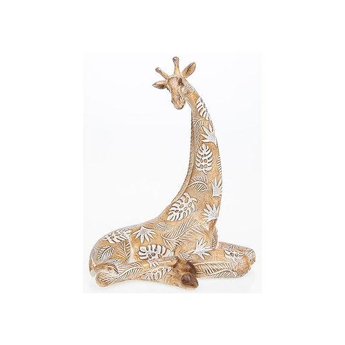 Carved Lying Giraffe
