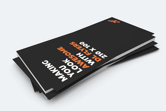 x500 DL Flyers (1/3 A4) printed full colour both sides