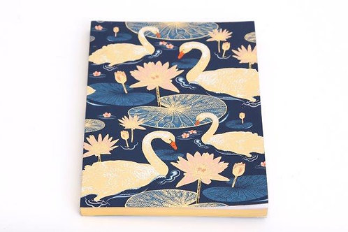 Royal Blue Swan Notebook