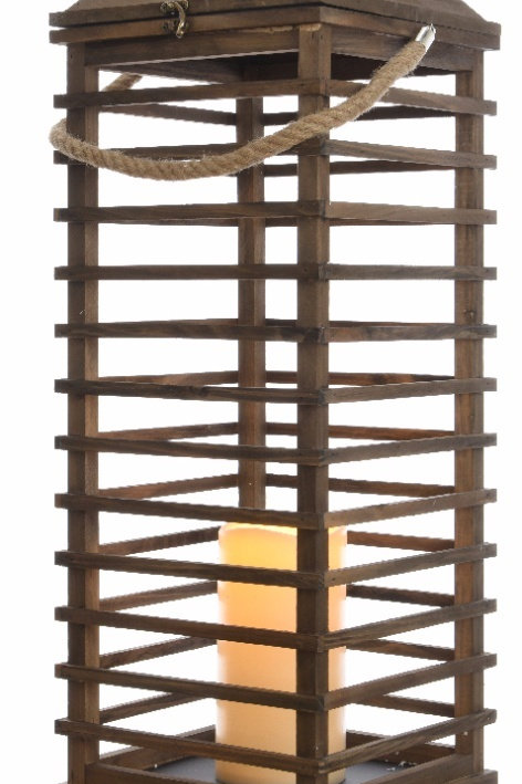 LED Extra Large Natural Wooden Lantern