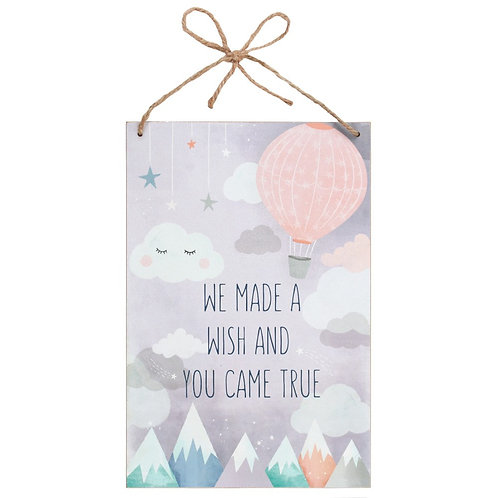 'We Made a Wish' Wall Plaque