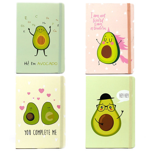 Cool A5 Notebook - Lined Paper - Crazy Avocado