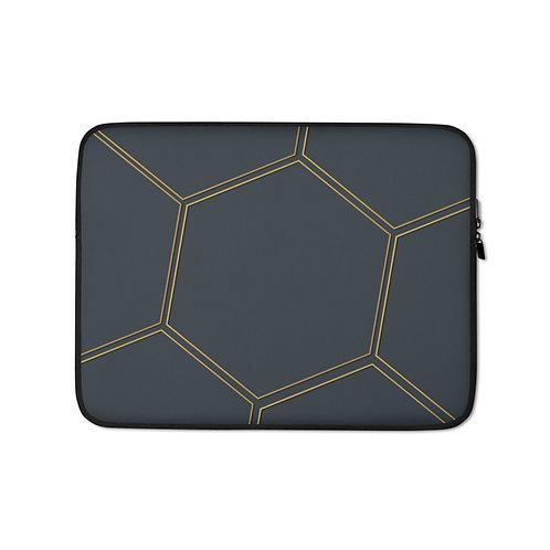 Juna Polygon Navy & Gold Laptop Sleeve