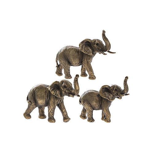 Reflections Bronze - Trio of Elephants