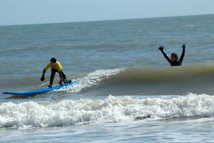 Enjoying the Surf at Curracloe