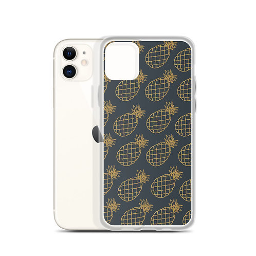 Juna Pineapple Navy & Gold iPhone Case