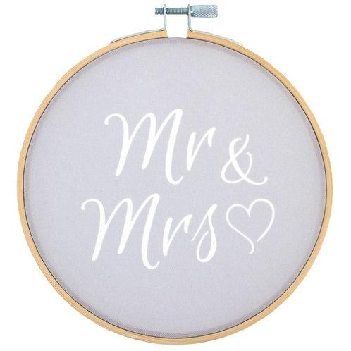 Mr & Mrs Wall Hanging Hoop