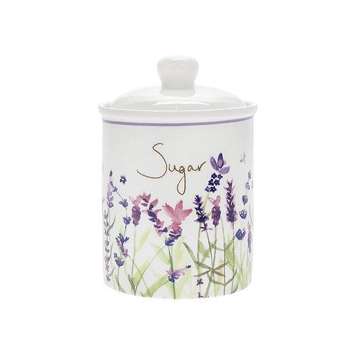 Purple Lavender Ceramic Sugar Canister