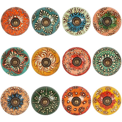 Multicoloured Ceramic Doorknobs