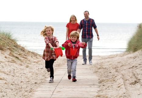 Family enjoys Curracloe Beach