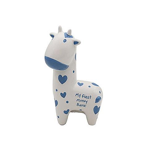 My First Money Box - Blue Giraffe