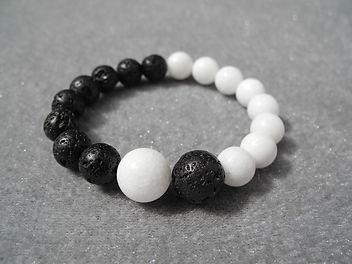 Perles en forme de Yin-Yang