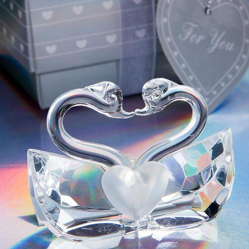 Coppia cigni cristallo - Stock 11 pezzi: