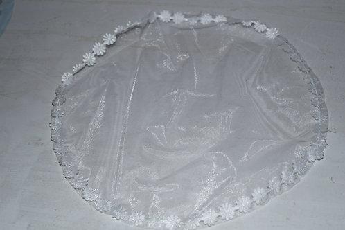 Velo di fata bordo margherite - Confezione da 30 pezzi
