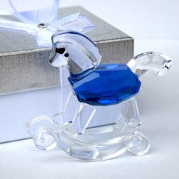 Cavalluccio cristallo blu - Stock 8 pezzi: