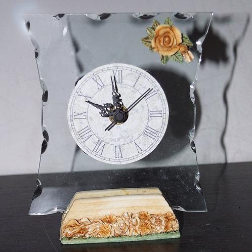 Orologio vetro base marmo - Stock 4 pezzi: