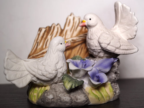 Coppia colombi porcellana - Stock 11 pezzi: