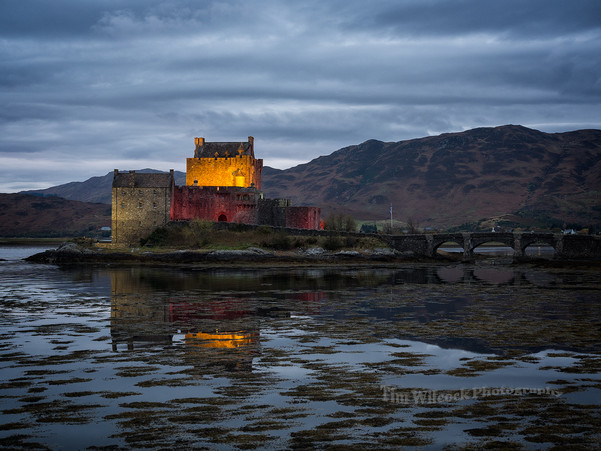 Lights on at Eilean Donan