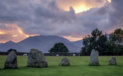 A New Sunset over Ancient Stones