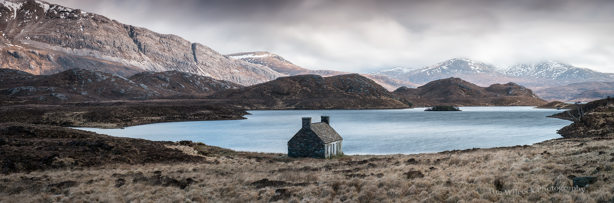 Loch Stack Bothy Panorama