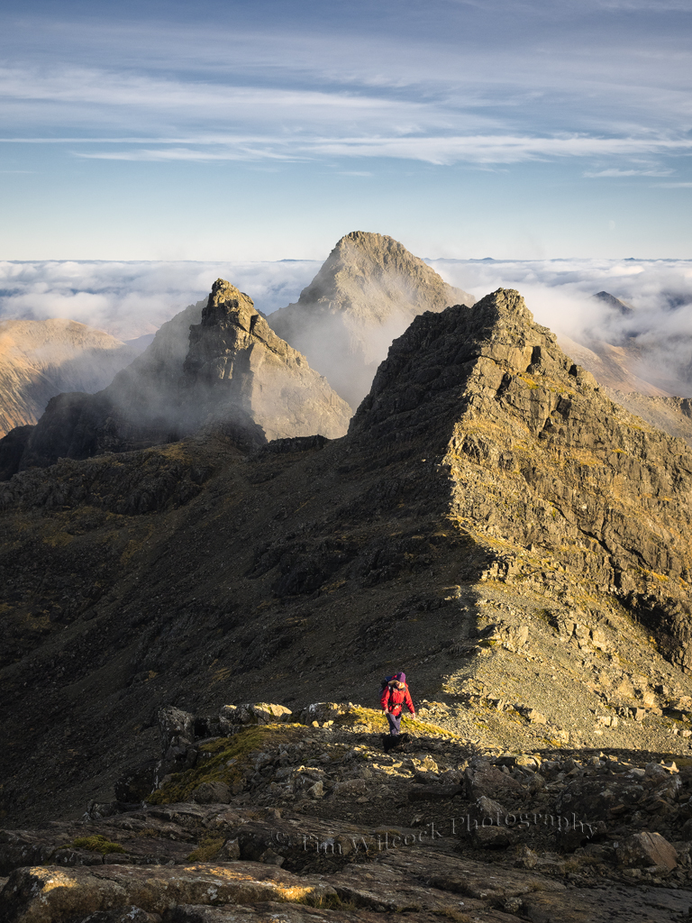 Last push to the summit of Bruach na Frithe
