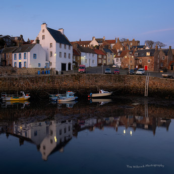 Lights on at Crail Harbour