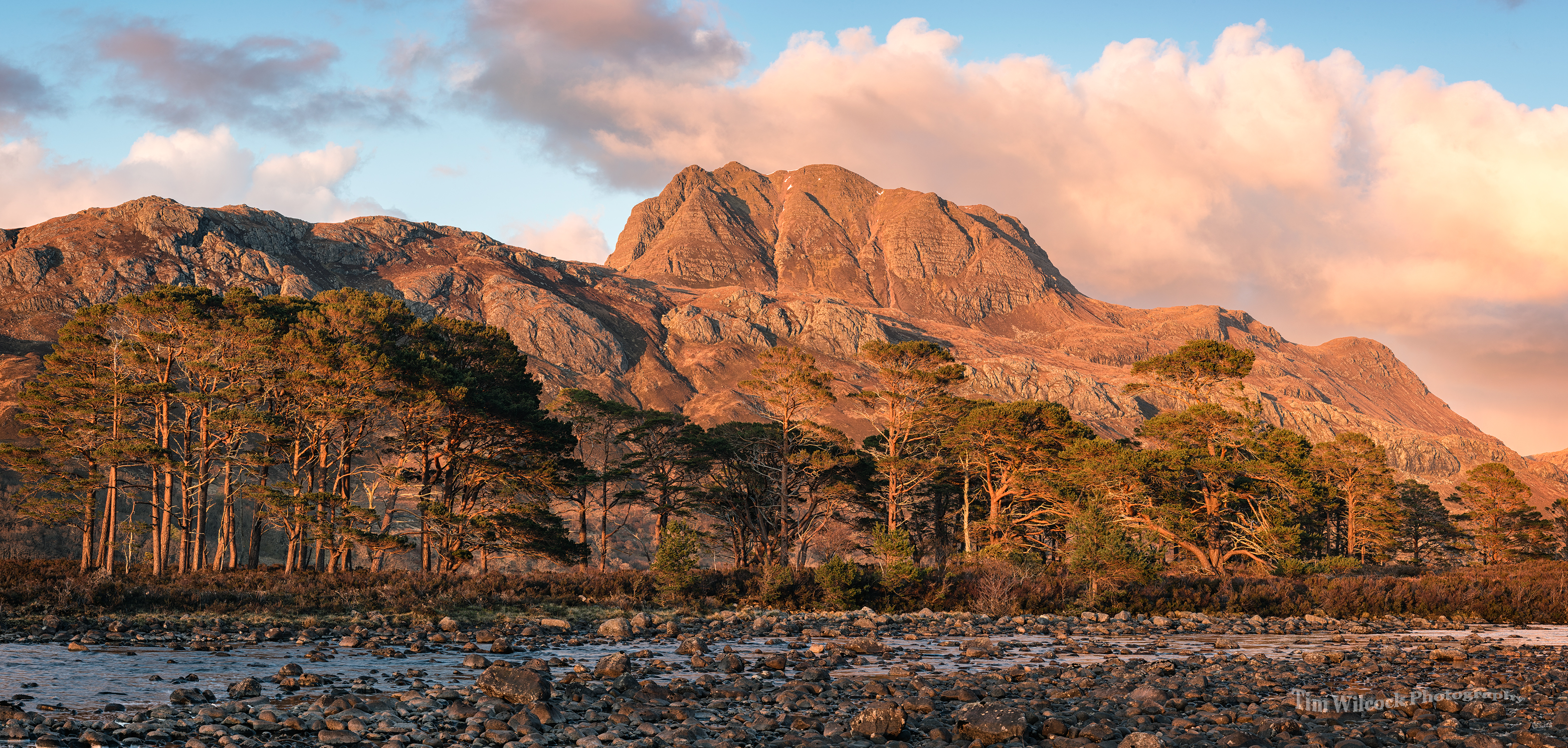 Red Glow at Loch Maree