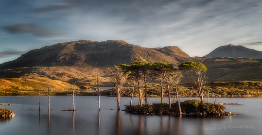 Last light at Loch Assynt