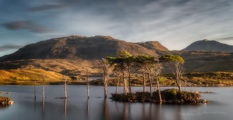 Last light at Loch Assynt