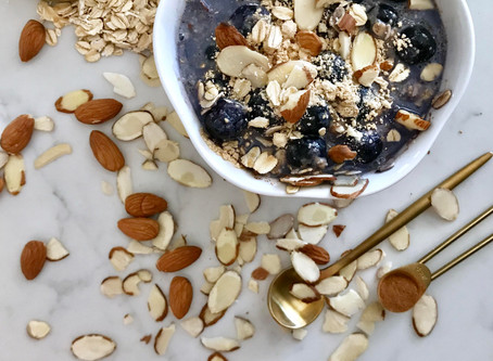 High Protein Blueberry Nut Oatmeal *Vegan*