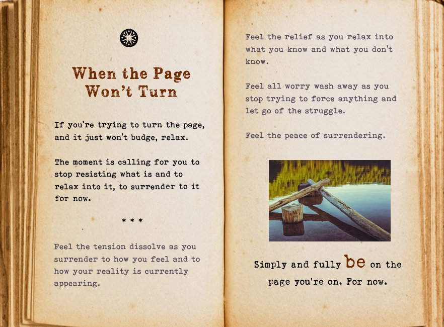 When the page won't turn. Cool Pages. Love the story you're living, no matter what page you're on.