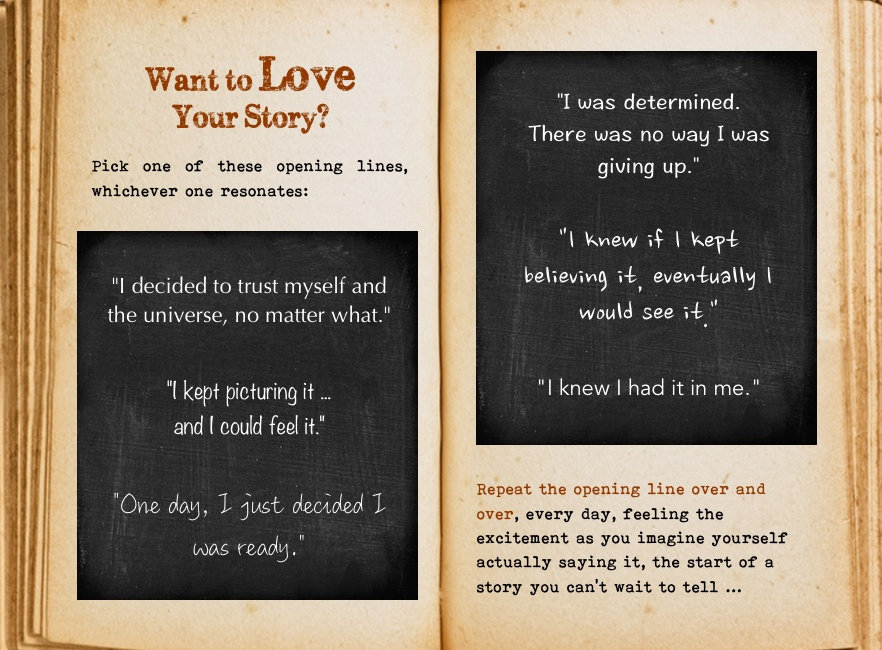 How to love your story. Cool Pages. Love the story you're living, no matter what page you're on.