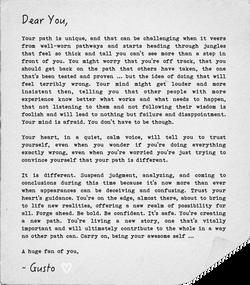 A Love Letter, Your Unique Path