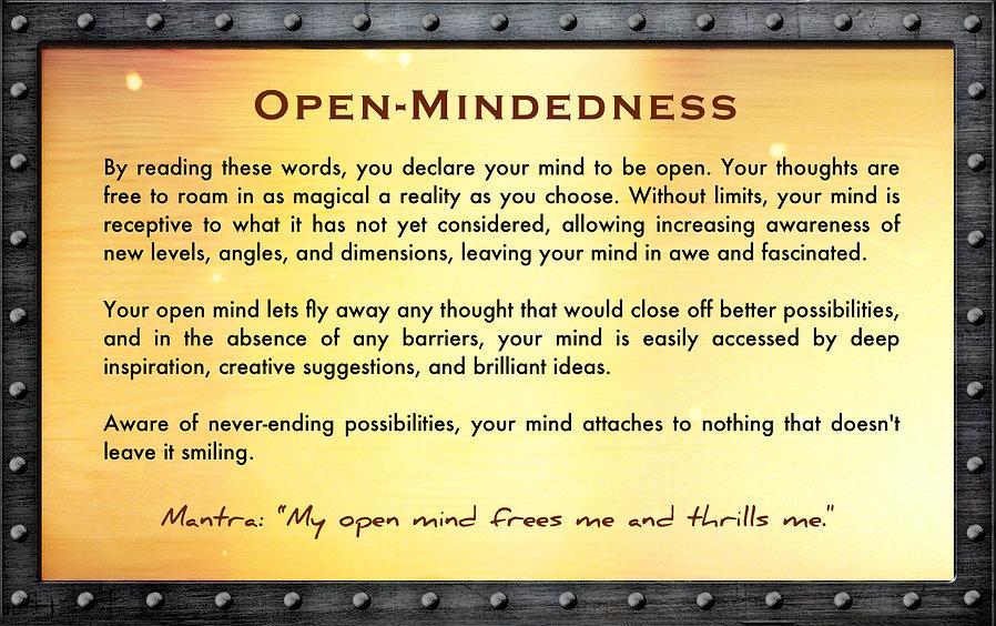 open mind, superpower, treasure, chest, gusto, wisdom