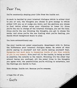 A Love Letter, Internal Di